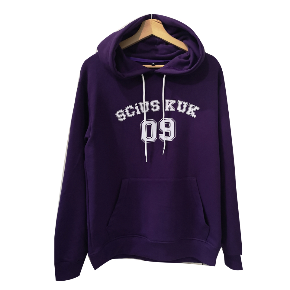 เสื้อฮู้ดสีม่วง SCiUS