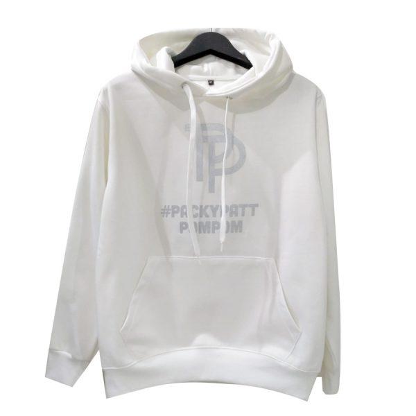 เสื้อฮู้ดสีขาว